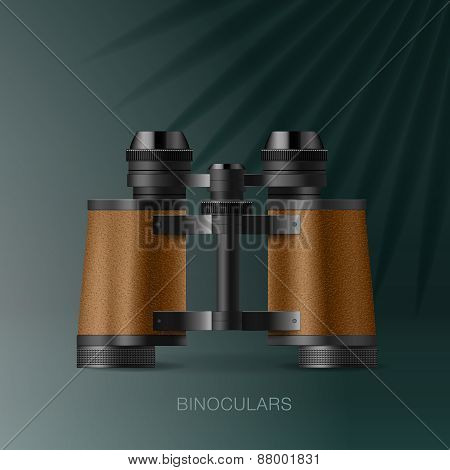 Binoculars, Adventure Concept For Scientific Expedition