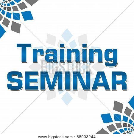 Training Seminar Blue Grey Square Elements Square