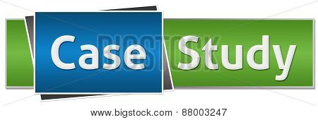 Case Study Green Blue Button Style