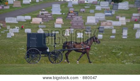 Amish Carriage & Graveyard