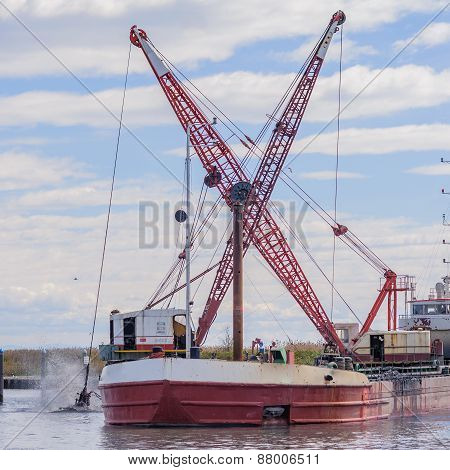 Dredger Ship Navy