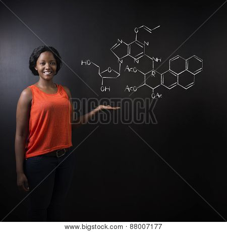 Learn Science Or Chemistry Teacher With Chalk Background
