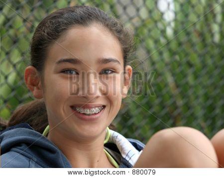 Happy Teenage Girl Smiling
