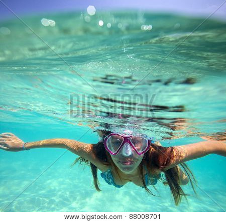 Underwater Portrait Of A Yong Woman