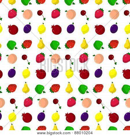 set of fruits, berries