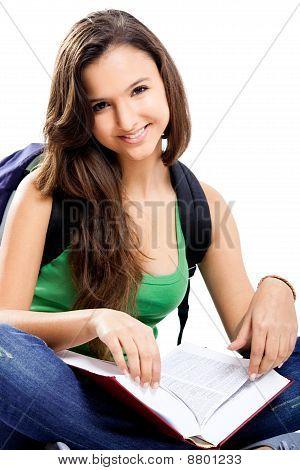 Glückliche Studentin