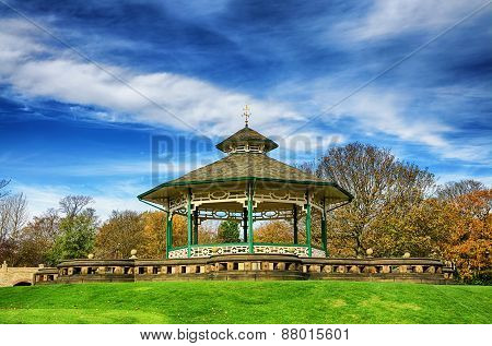 Bandstand in Greenhead park, Huddersfield, Yorkshire, England
