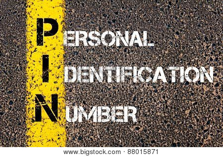 Acronym Pin - Personal Identification Number