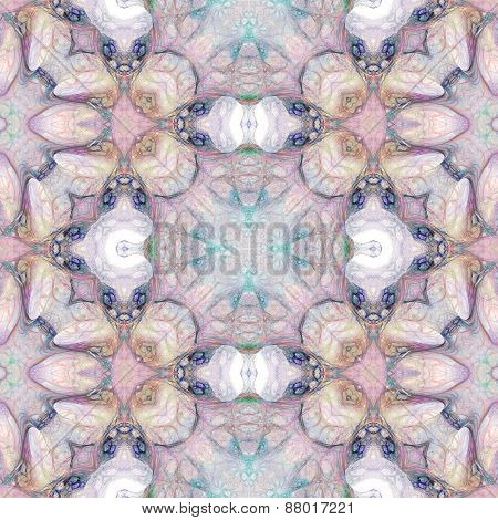 Seamless Kaleidoscope Texture Or Pattern In Pastel Colors 5
