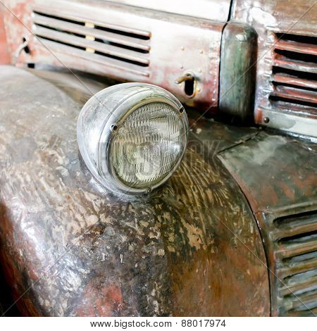 Rusting Car Headlight