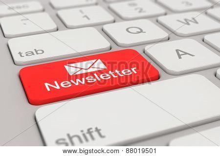 Keyboard - Newsletter - Red