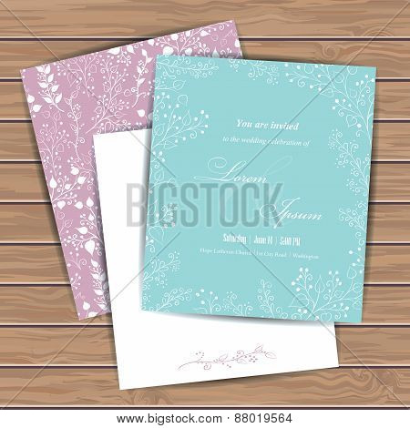 Greeting cards with flowers
