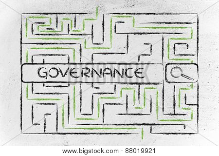 Maze With Search Tags About Business Governance