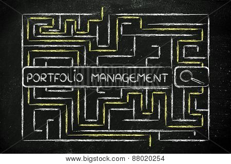 Maze With Search Tags About Portfolio Management