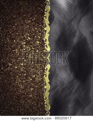 Element For Design. Template For Design. The Texture Of Golden Sand With A Velvet Edge