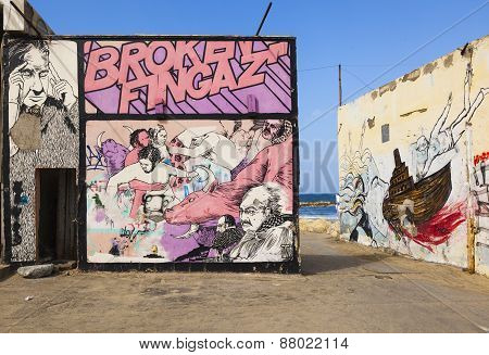 Street Art (graffiti) By Broken Fingaz. Tel Aviv, Israel