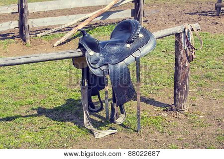 saddle for riding a horse