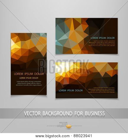 vector abstract business card templates