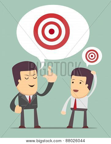 Big Target. Cartoon Vector Illustration