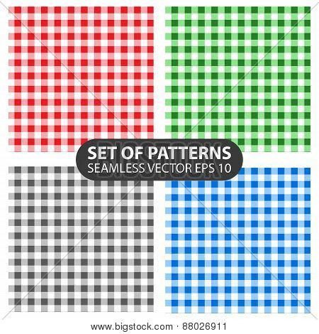 set of 4 vector abstract seamless patterns