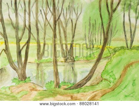 Spring Landscape, Painting