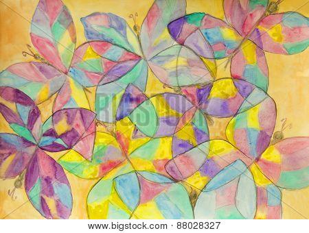 Buterflies, Painting