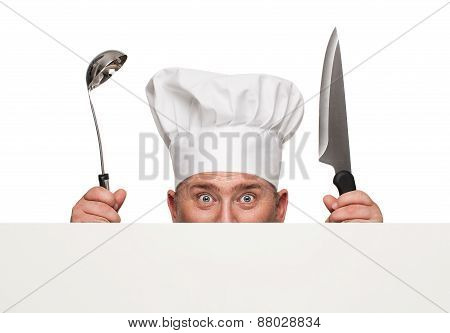 Funny Chef Peeking