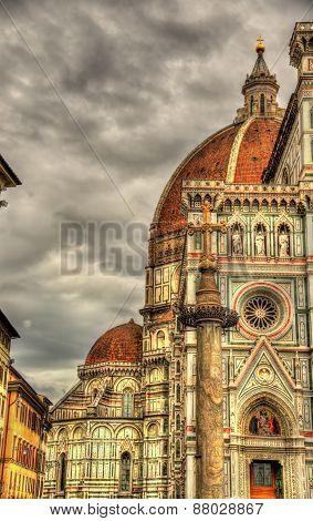 Santa Maria Del Fiore, The Main Church Of Florence - Italy