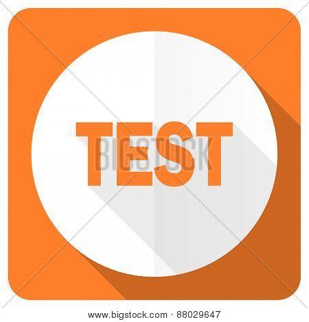 test orange flat icon