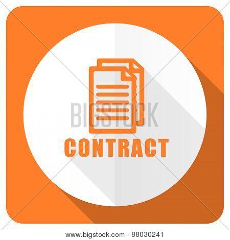contract orange flat icon
