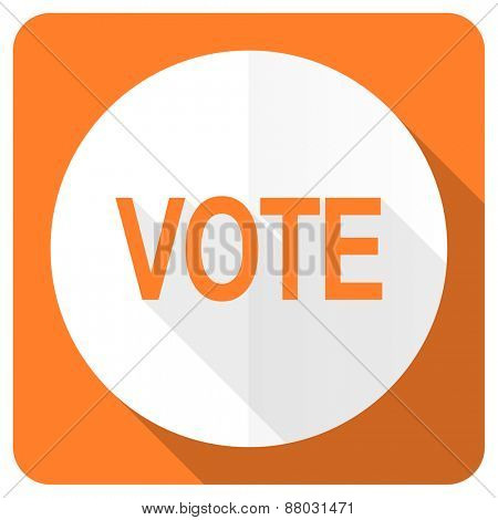 vote orange flat icon