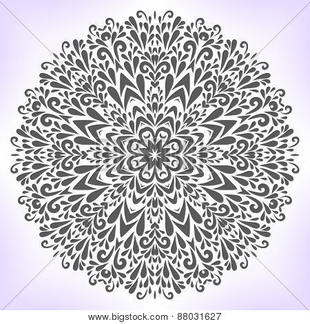 Floral Mandala.