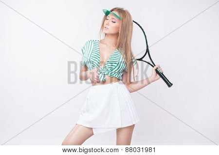 Woman With Racket