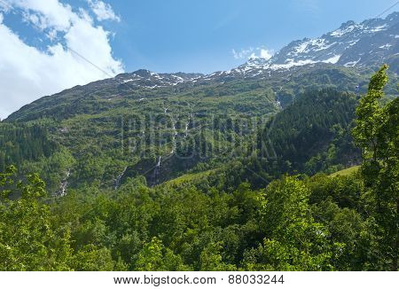 Grimsel Pass Summer Landscape (switzerland).