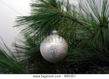 Christmas Ornament Close-Up On Christmas Tree