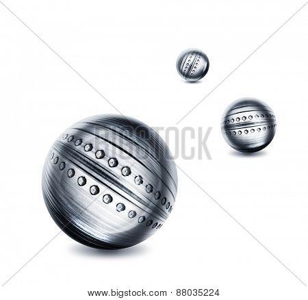 3 steel balls illustration