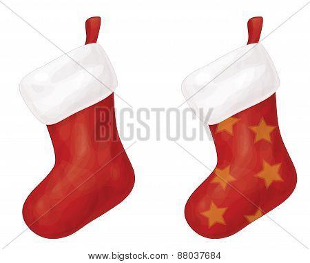 Vector Christmas stocking.