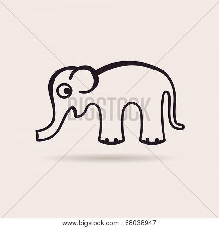 elephant icon. logo funny emblem