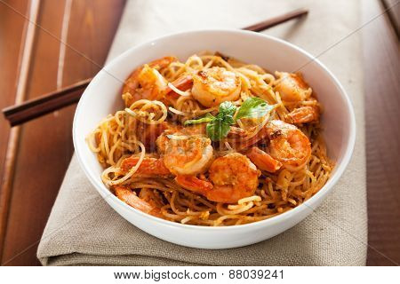 Thai Rice Noodles With Shrimps
