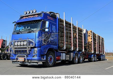Volvo FH16 700 Logging Truck On A Yard