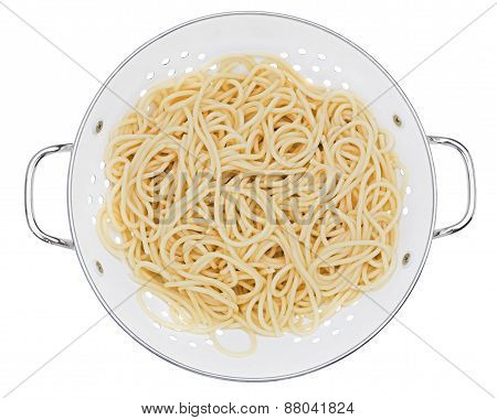 Colander With Spaghetti