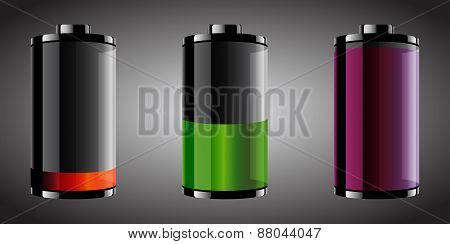 Glossy Looking Batteries