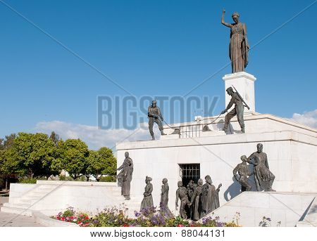 Monument Statue Landmark In Nicosia, Cyprus