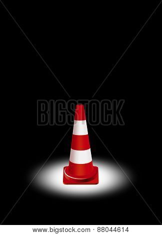 single traffic cone illustration