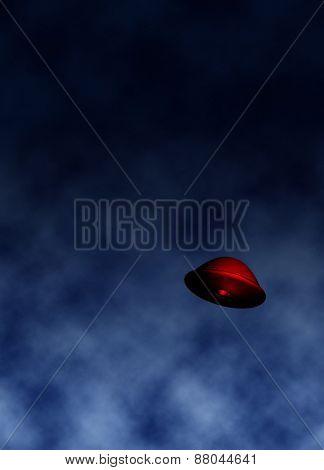 UFO in sky illustration