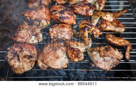 Grilling Chicken