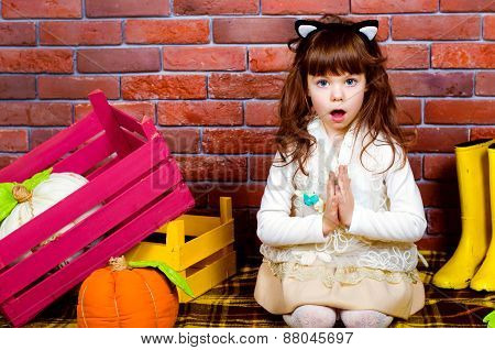 Funny Girl Child Surprised
