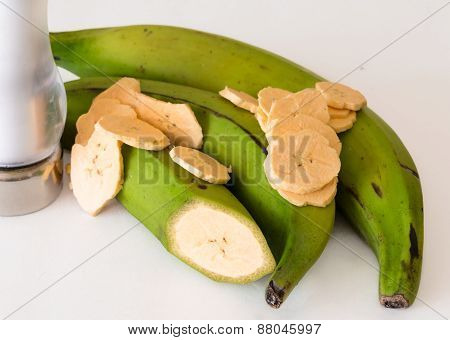 Cuban Cuisine: Green Plantian Banana Chips