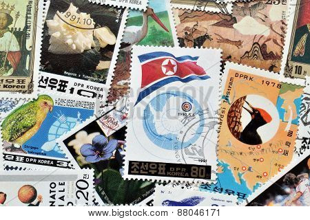 North Korea on stamps