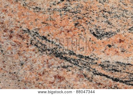 Marble with pink and black colors